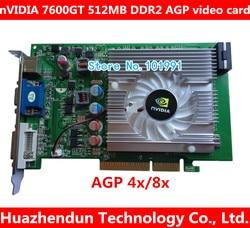 NVIDIA GeForce 7600GT 512MB DDR2 AGP 4X 8X VGA DVI Video Karte
