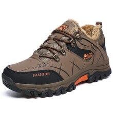 39-47 зимние сапоги Для мужчин плюшевые теплые Мужская обувь зимние противоскользящие Мужские ботинки Зимняя обувь большого размера