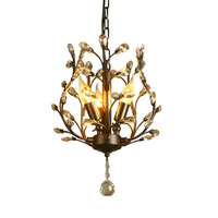 American chandelier retro country wrought iron crystal lamp bronze led balcony aisle corridor entrance crystal lamp fixture