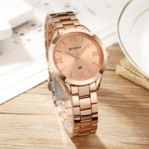Image 2 - カレンゴールド腕時計女性腕時計女性のクリエイティブ鋼の女性のブレスレットは、女性の時計レロジオfeminino montreファム