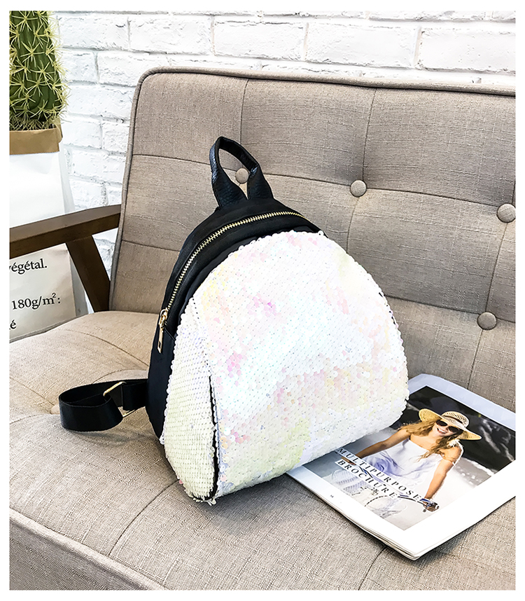 Backpacks women Korean mini 2018 new sequined shell fashion trend women go with small backpacks travel backpack 92