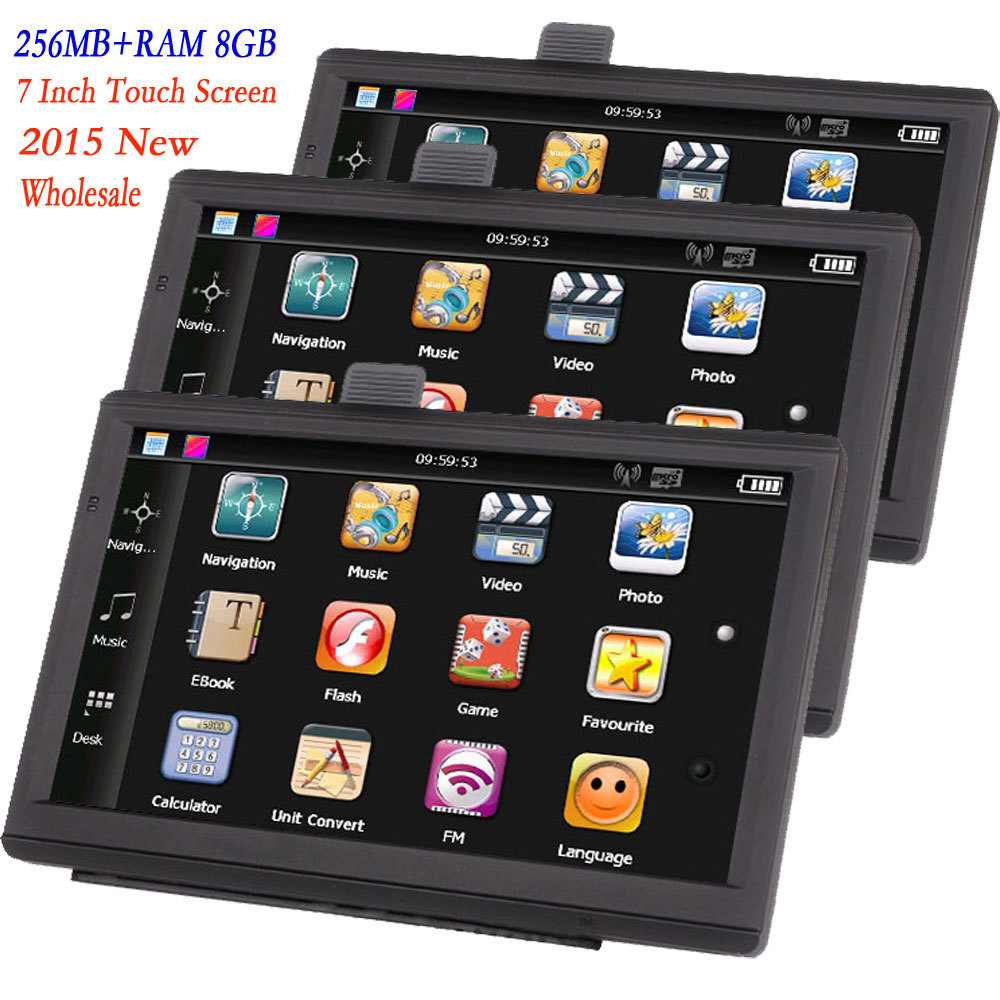 7 inch HD Car GPS Navigation 800M/ FM/8GB/256MB Russia/Belarus/Kazakhstan Europe/USA+Canada CAR AUTO Navigator