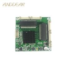Przemysłowy mini 3/4 portowy przełącznik gigabitowy 10/100/1000Mbps szeroki temperatura mini trzy cztery portowy moduł przełączający