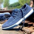 Холст Обувь Zapatos Hombre мужская Обувь Повседневная Обувь Мода 2016 Новый Осень Зима Дешевые Обувь Slip-On Crossfit обувь L082608