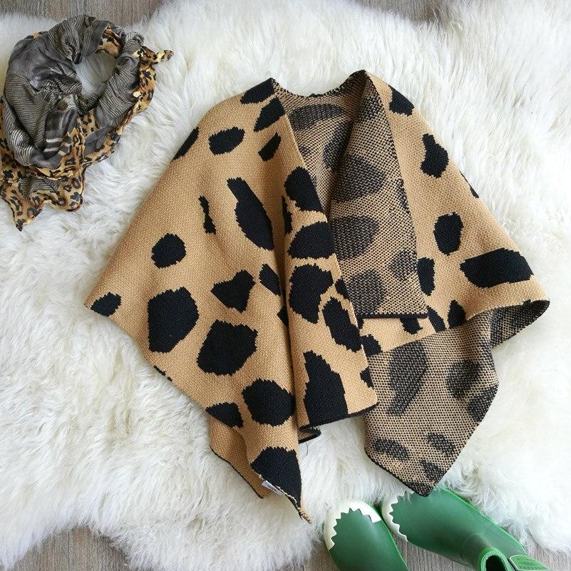 ANKRT 2017 new winter ins explosion s fan in Europe girls leopard wool baby shawls children