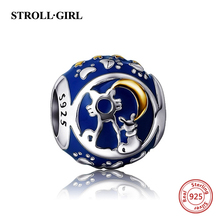 NEW arrival 925 sterling silver Fit Original pandora Bracelet Antique color Enamel Charms Beads Jewelry Making for women Gifts(China)