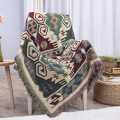 European Geometry Throw Blanket Sofa Decorative Slipcover Cobertor on Sofa/Beds/Plane Travel Plaid Non-slip Stitching Blankets