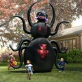 H026  3.5m Free shipping giant  Inflatable animated spider Outdoor Halloween Yard Decoration/ zombie/walking/Pumpkin with Light