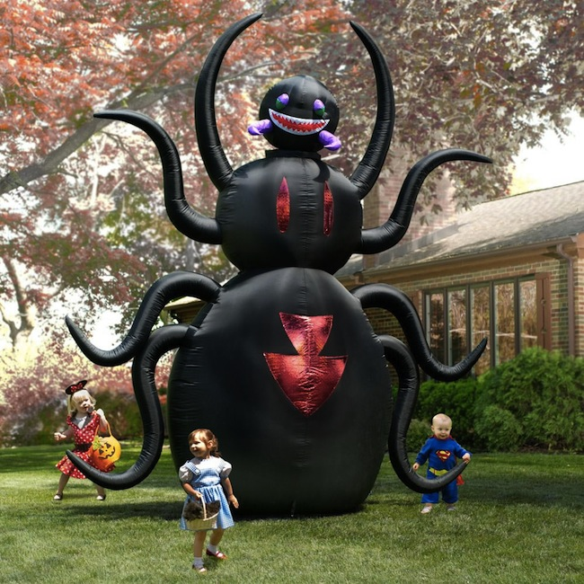 h026 35m free shipping giant inflatable animated spider outdoor halloween yard decoration zombie - Outdoor Inflatable Halloween Decorations