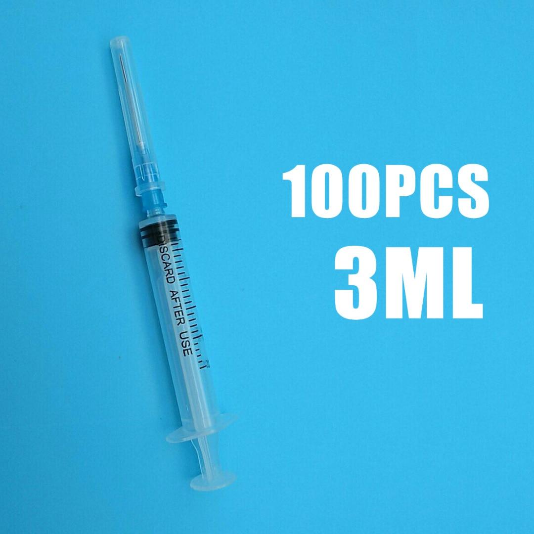 100pcs/Set Syringes 3ml Plastic Sterile Syringe With Blunt End Tip Needle And Storage Cap For Soldering Paste Grease Oil james blunt cap roig