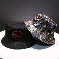 Мягкая сумка, шляпа для мужчин и женщин, для спорта на открытом воздухе, хип-хоп кепка с цветочным принтом, двусторонняя летняя хлопковая Пан...