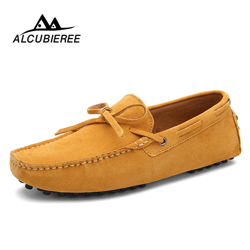 Brand Big Size Cow Suede Leather Men Flats 2018 New Men Casual Shoes High Quality Men Loafers Moccasin Driving Shoes new handmade spring summer soft dough leather flats quality leather men loafers men moccasin casual shoes driving shoes