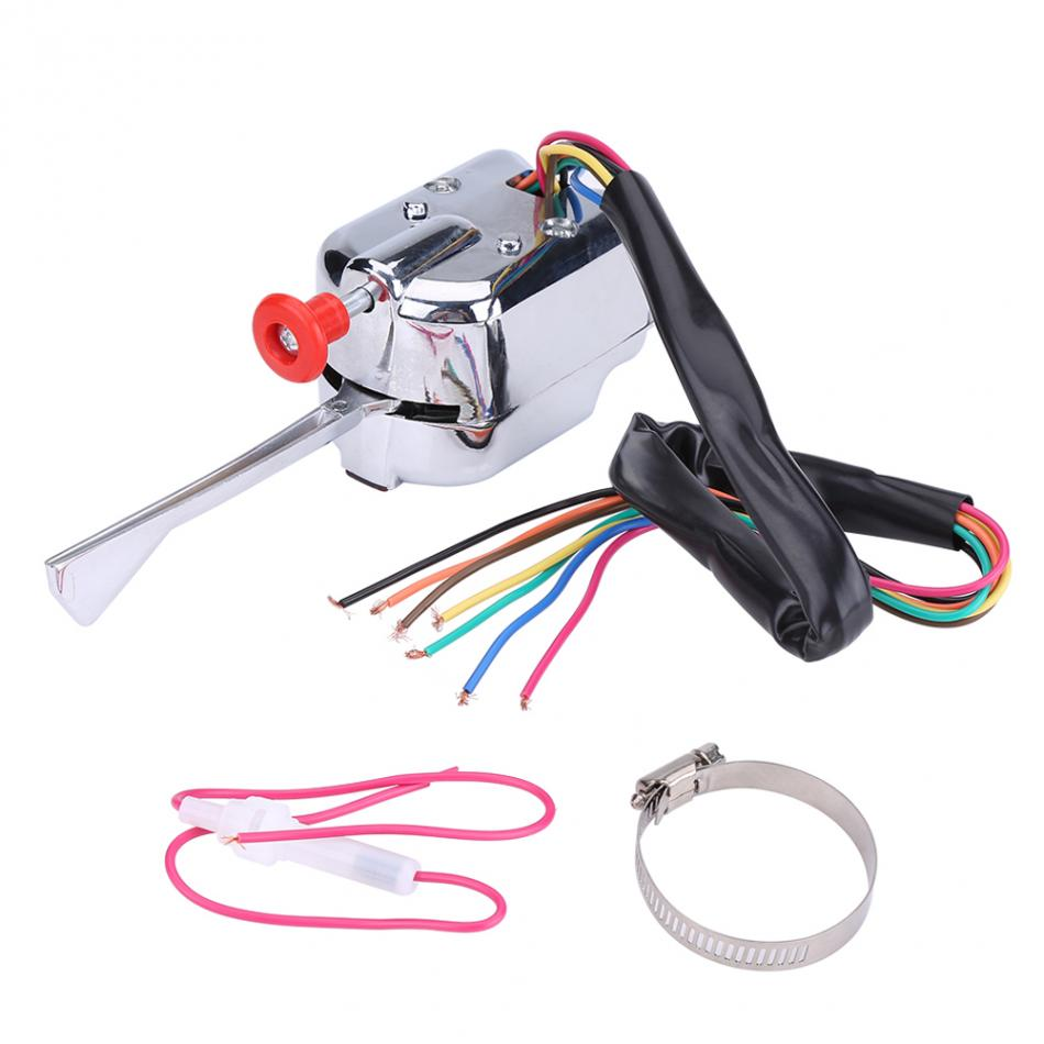 12V Universal Street Hot Rod Turn Signal Switch for FORD BUICK Car Universal Accessories