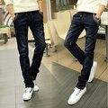 Новое Прибытие 2016 осень новые мужские брюки модные тощий средней высоты прямые джинсы хлопок amde ноги брюки us103