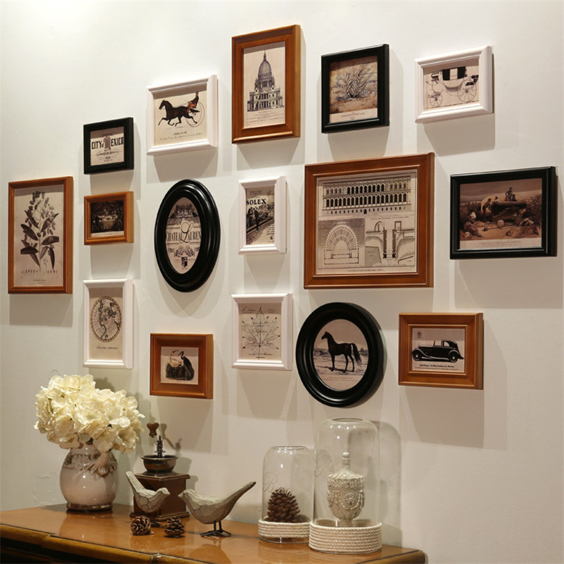 Photo Frames for Picture Wooden Frames for Picture European Photo Frames Wall Set Combination Porta Retrato