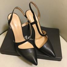 Женские туфли-лодочки с острым носком в европейском стиле; пикантные туфли на высоком каблуке; вечерние туфли из натуральной кожи на высоком каблуке; EU35-41 размеры; BY658