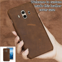 SS14 Genuine leather half wrapped case for Huawei Y7 Prime phone case for Huawei Enjoy 7 Plus phone cover case