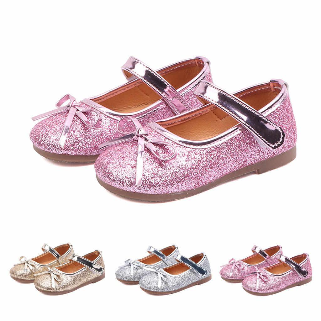 夏の女の子サンダルスパンコールと蝶ネクタイ幼児サンダルファッションとノベルティ子供サンダルパーティー Chlidren サンダル