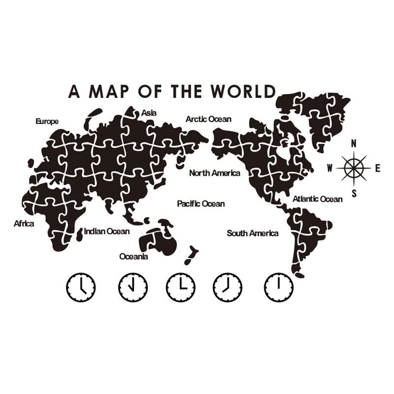 Carte du monde peinture murale auto-adhésif salon agencement entreprise bureau fond décoration murale 3D création stéréo