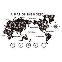 World Map Wall Painting Self adhesive Living Room Arrangement Company Office Background Wall Decoration 3D Stereo Creation