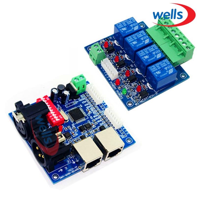 ФОТО DMX512 4CH Relay switch Controller, DMX relay control,4way relay switch