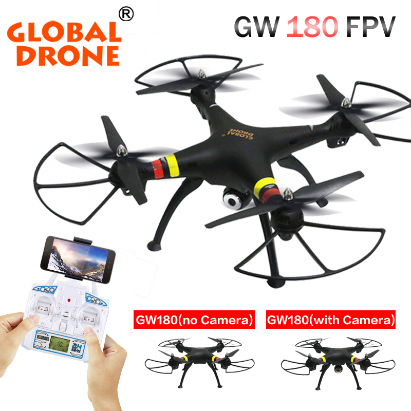 GW180 FPV RC Drone With Wifi Camera 2.4G 6Axis RTF Height Hold Mode RC Quadcopter Helicopter VS SYMA X8W X8HG цена