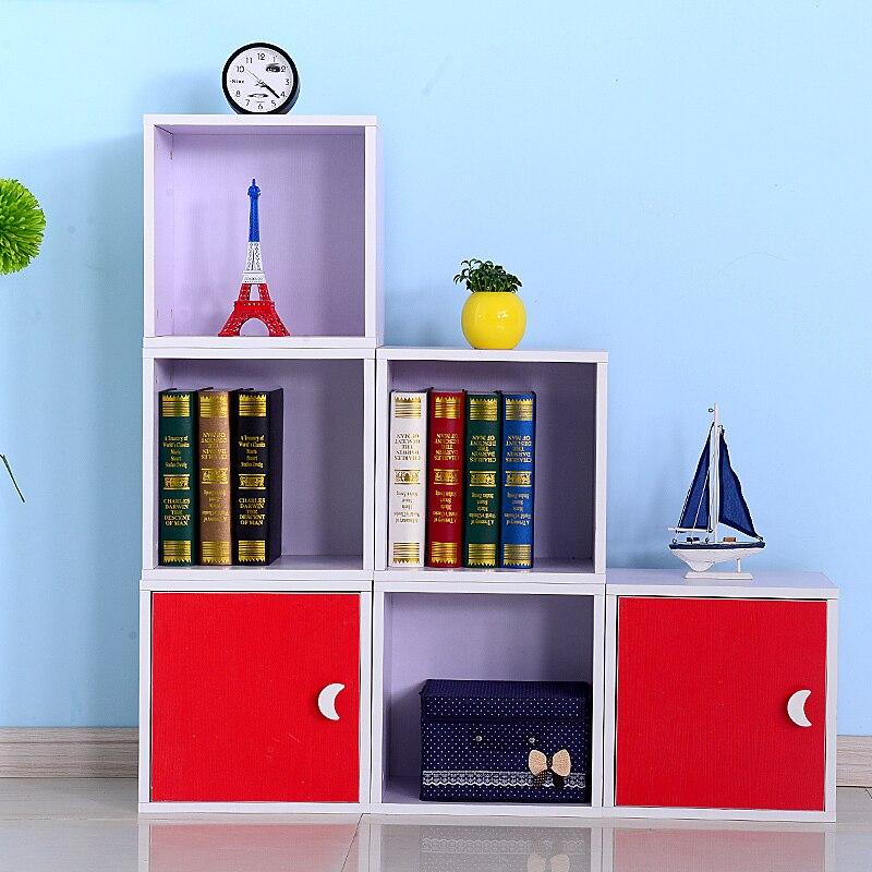 Spedizione Gratuita Coreano Bambini Libreria Libero Combinazione Creativa  Armadi Di Immagazzinaggio Ikea Libreria Libreria Semplice Piccolo Armadio  In ...