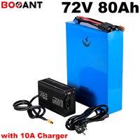 Alta Potência 5000 w 9000 W 72 v 80ah E moto-bateria de lítio para LG Originais 18650 celular 20 S 25 P 72 v scooter Carregador de bateria com 10A