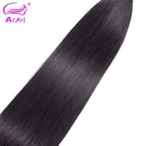 Image 5 - Ariel ผมผมตรงบราซิล 100% มนุษย์ผมสานการรวมกลุ่ม Non   Remy Hair Extensions ธรรมชาติสีซื้อ 3 หรือ 4 กลุ่ม
