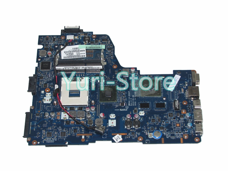 NOKOTION NWQAA K000104420 LA-6062P Mainboard For TOSHIBA A660 Laptop motherboard REV 2.0 HM55 graphics h000023260 laptop motherboard for toshiba satellite u500 intel hm55 pn 08n1 0ck4q00 rev 2 1 with graphics slot mainboard