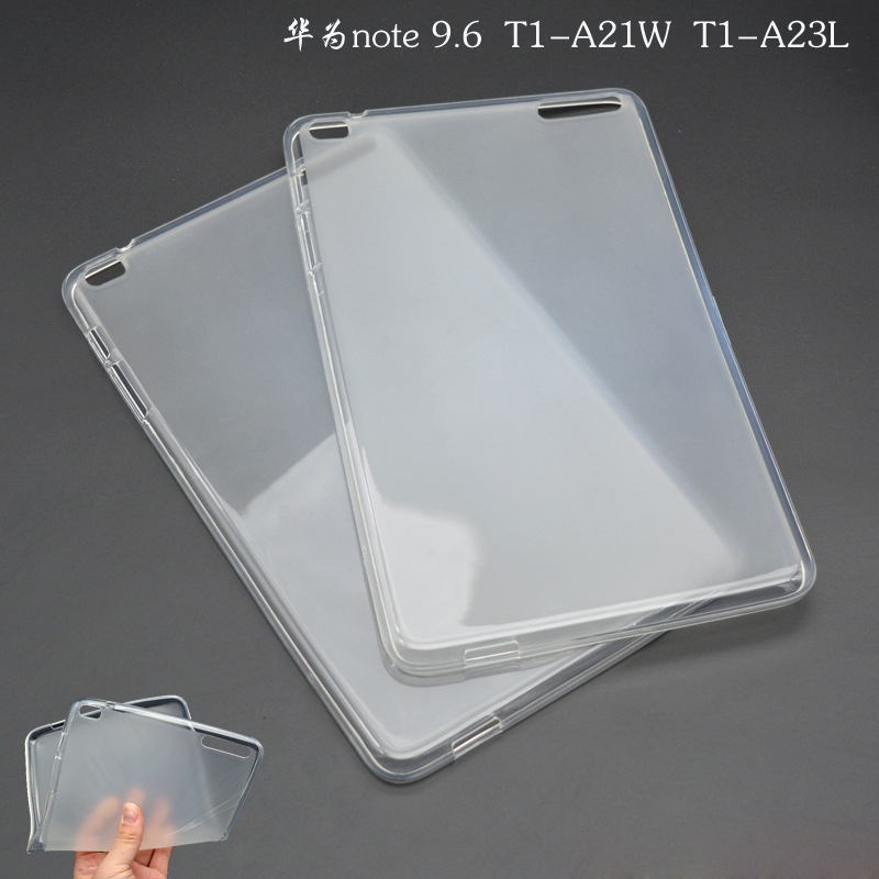 T1-A21W Soft Cover  TPU Rubber Silicone Case For Huawei MediaPad T1 10 / honor note 9.6/ T1-A23L Semi transparent Back Case z170 high quality soft tpu rubber cover semi transparent back case for asus zenpad c 7 0 z170 z170c z170mg z170cg silicone cover