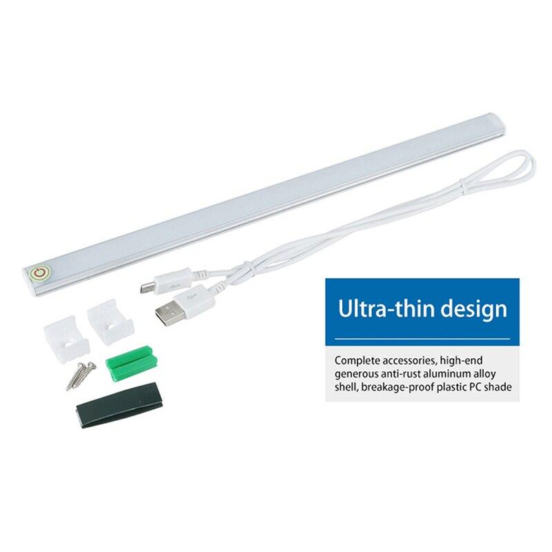 LAIDEYI White Touch Sensor Dimmable Under Led Lamp Cabinet Light Kitchen Light LED Aluminum Indoor Led Bar Light