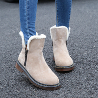 2018 New Fashion Women Ankle Boots Warm Round Toe Plush Female Shoes Hot Sale Snow Boot