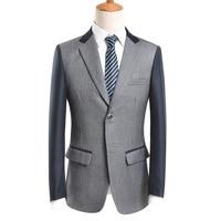 Marca Signore Nuovo Stile Patchwork Blazers Uomo Pieno Manica Abbigliamento Casual Colore di Contrasto del Rivestimento di Modo Degli Uomini di fascia Alta Blazer