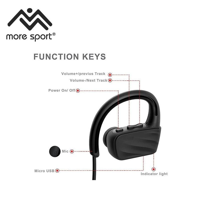 Более спортивный Ipx8 Водонепроницаемый Bluetooth наушники с микрофоном для дайвинга/Купание/Велоспорт/бег/Пеший Туризм/Лыжный Спорт /бег