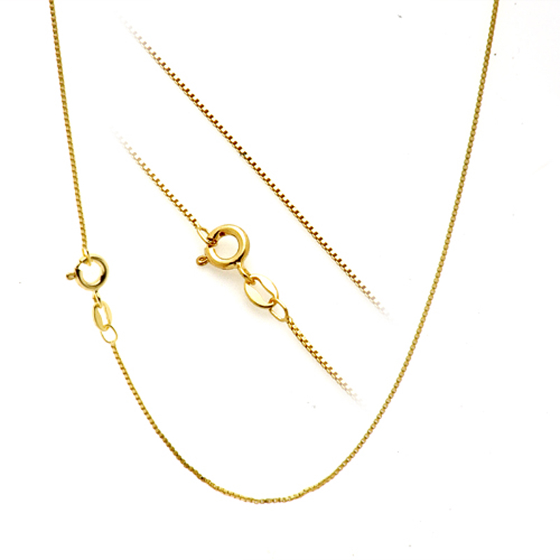 Wholesale 18 inches 18K Yellow Solid Gold Chain(Can be adjusted to 16 inches) цена и фото