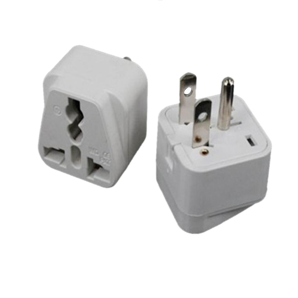 Us to uk ac power plug white black travel wall adapter plug converter - 3 Prong Au Eu Uk To Us Canada Plug Adapter Travel Adaptor With Side Jack