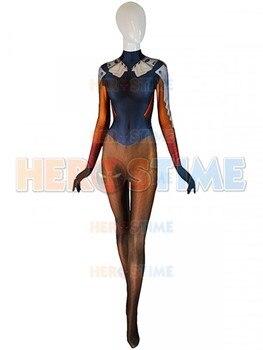 Mercy Cosplay Costume 3D Print Girl Spandex Zentai Bodysuit Cosplay Mercy Halloween Costume for Woman Freeshipping фото