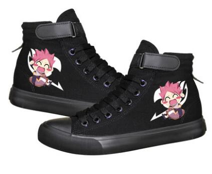 High-Q Unisex Anime Cos Cartoon Fairy Tail Shoes Natsu Lucy Erza Plimsolls Canvas Shoes Rope Soled Shoes