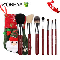 ZOREYA 7pcs Makeup Brush Set Colorful Cosmetics Make Up Brushes Powder Blush Foundation Top Quality Makeup