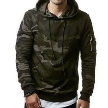 2018 New Mens Hoodies And Sweatshirts Hooded Male Fashion Military Hoody For Men Camouflage 3xl
