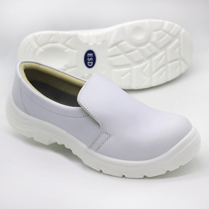 Bianco scarpe di sicurezza anti statica di alta tubo lungo stivali anti static anti acaro della polvere trasporto scarpe di sicurezza elettrica scarpe di depurazione - 5