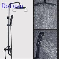 Dofaso China 8 Rainfall Shower Set Oil Rubbed Bronze Dual Handle Bath Shower Taps Vintage Bathroom