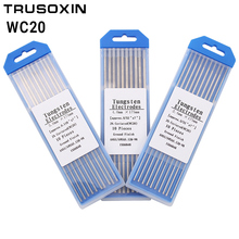 10pcs gray color code 1.6/2.0/2.4/3.0/3.2/4.0*175mm cerium tungsten electrode head tungsten needle/wire for TIG Welding Machine cnbtr 10pcs wt20 gray tig welding tungsten electrode 2% ceriated replace 1 6 x 150mm