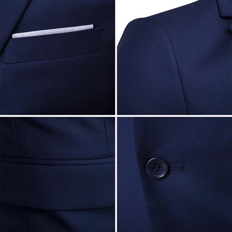 2019 High Quality Men Blazer Masculino Thin Suits Fashionable Clothes Slim Fit Three Pieces Suit Blazer (Jacket+Pants+Vest) Sets 4