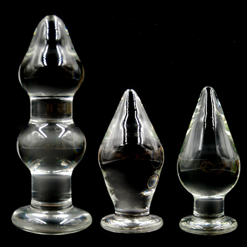 crystal or glass liquid filled dildos