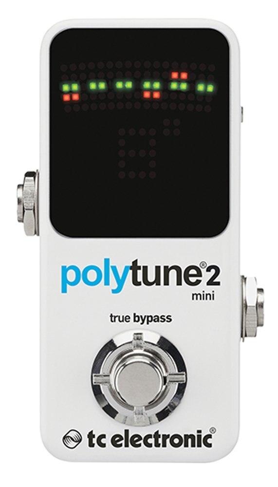 TC Electronic PolyTune 2 Mini Polyphoniques Réglage Pédale Petit format Accordeur de Guitare Pédale 3 Chromatique Modes D'accordage-Guitare seulement