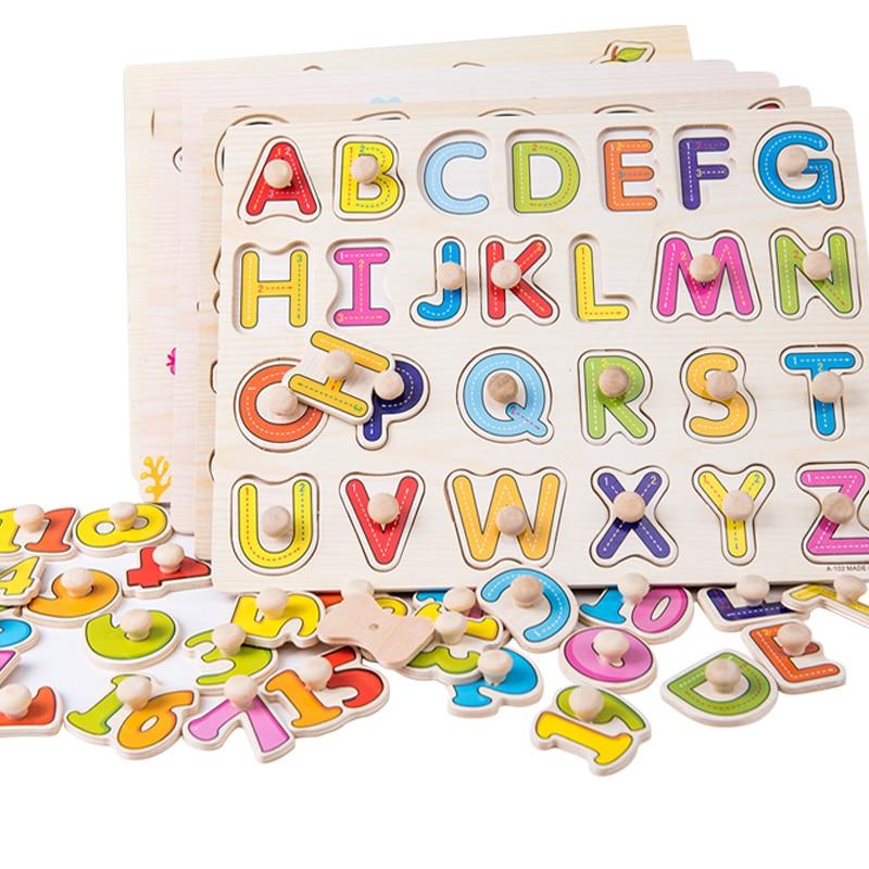 Деревянные игрушки Детские Tangram головоломки доска обучения овощей животных доска с ручкой Пазлы для детей 2-4 года ME2664H