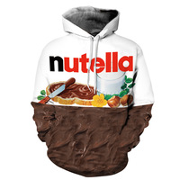 2017 Nutella Pattern Men Women Hoodies Couples Casual Style 3D Print Personality Autumn Winter Sweatshirts Hoody