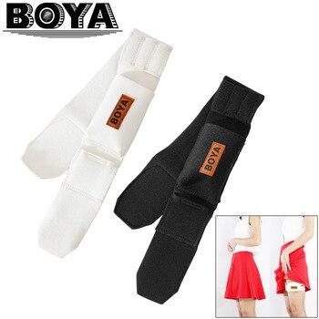 BOYA BY-MB2 Wireless Mic Cinture Set Bodypack Carrier Cinghie con il Sacchetto per Trasmettitore Microfono Senza Fili (Nero e Beige)